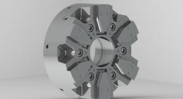 6-Backen Kraftbetätigtes Keilhakenfutter QLC- XX MIR mit Backenschnellwechsel-System mit Fliehkraftausgleich
